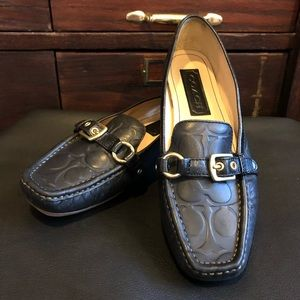 COACH Black Leather Driving Moccasin/Loafers 9.5